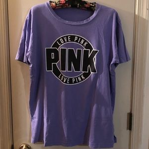 Victoria's Secret PINK tee XL Purple